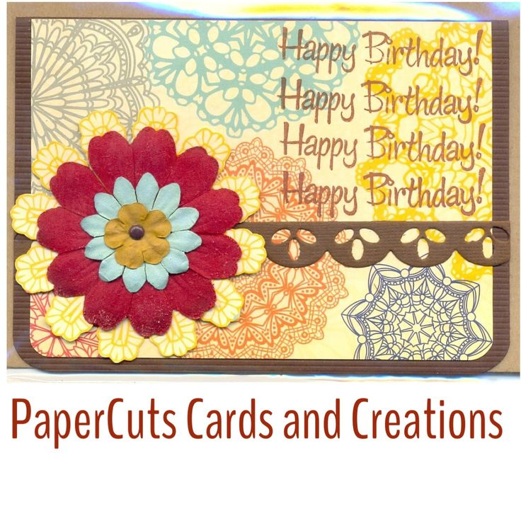 Card by PaperCuts Cards and Creations. Find me on Facebook.