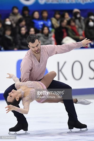 Meagan Duhamel and Eric Radford of Canada compete...