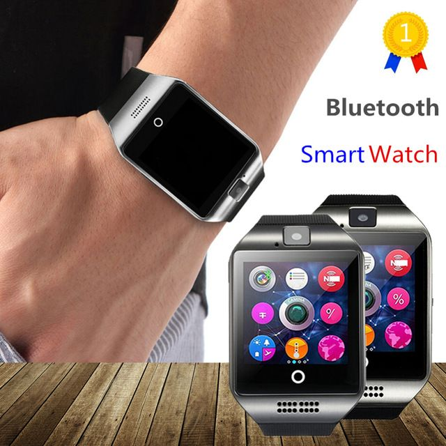 Low Price $12.89, Buy OLLLY Newest Q18 Smart Watch Bluetooth Smartwatch Phone with Camera TF/SIM Card Slot for Android Samsung Galaxy SONY,LG,Huawei
