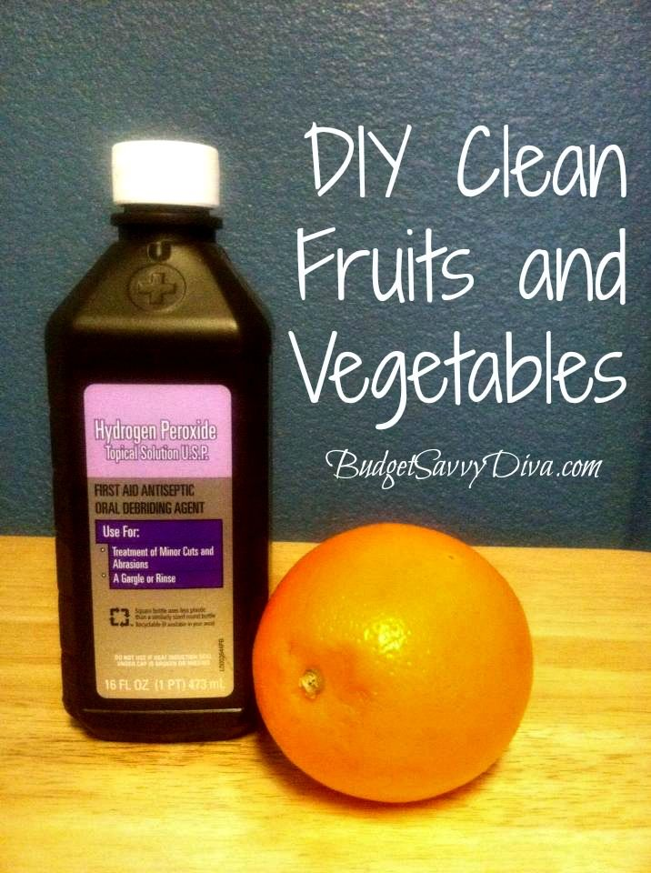 DIY Clean Fruits and Vegetables | Budget Savvy Diva
