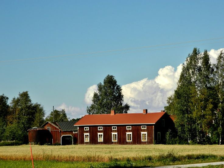 Old Ostrobothnian house. Kurikka Finland.