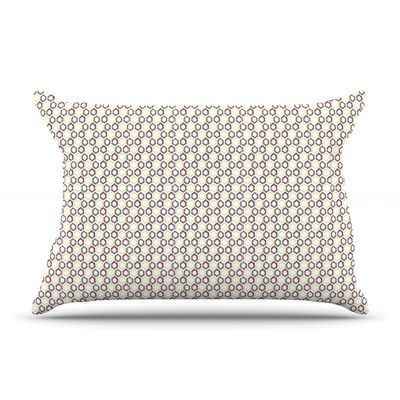 KESS InHouse Hexy Small by Laurie Baars Featherweight Pillow Sham Size: King, Fabric: Woven Polyester