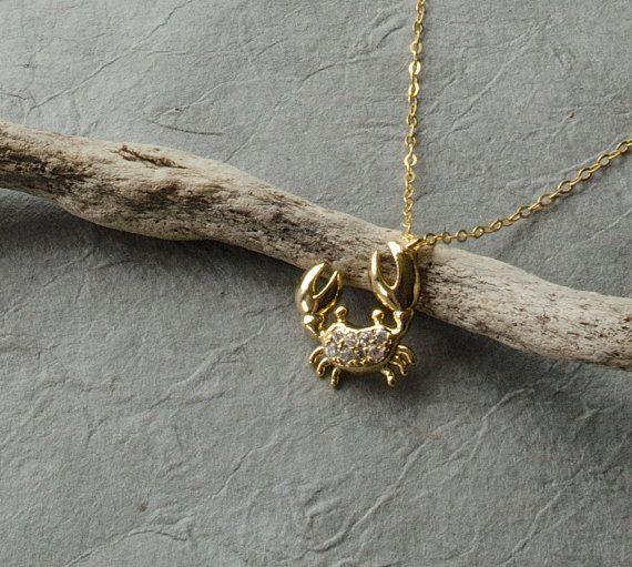 Gold anklet Gold ankle bracelet Dainty anklet Crab by inBeads, $24.00