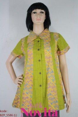 <p>Bahan katun<br />Detail jahit kombinasi embos dan batik<br /><br />Size : L<br />Lingkar dada: 86 cm<br />Lingkar pinggang: 104 cm<br />Panjang baju : 78 cm<br />Panjang lengan : 18 cm</p>