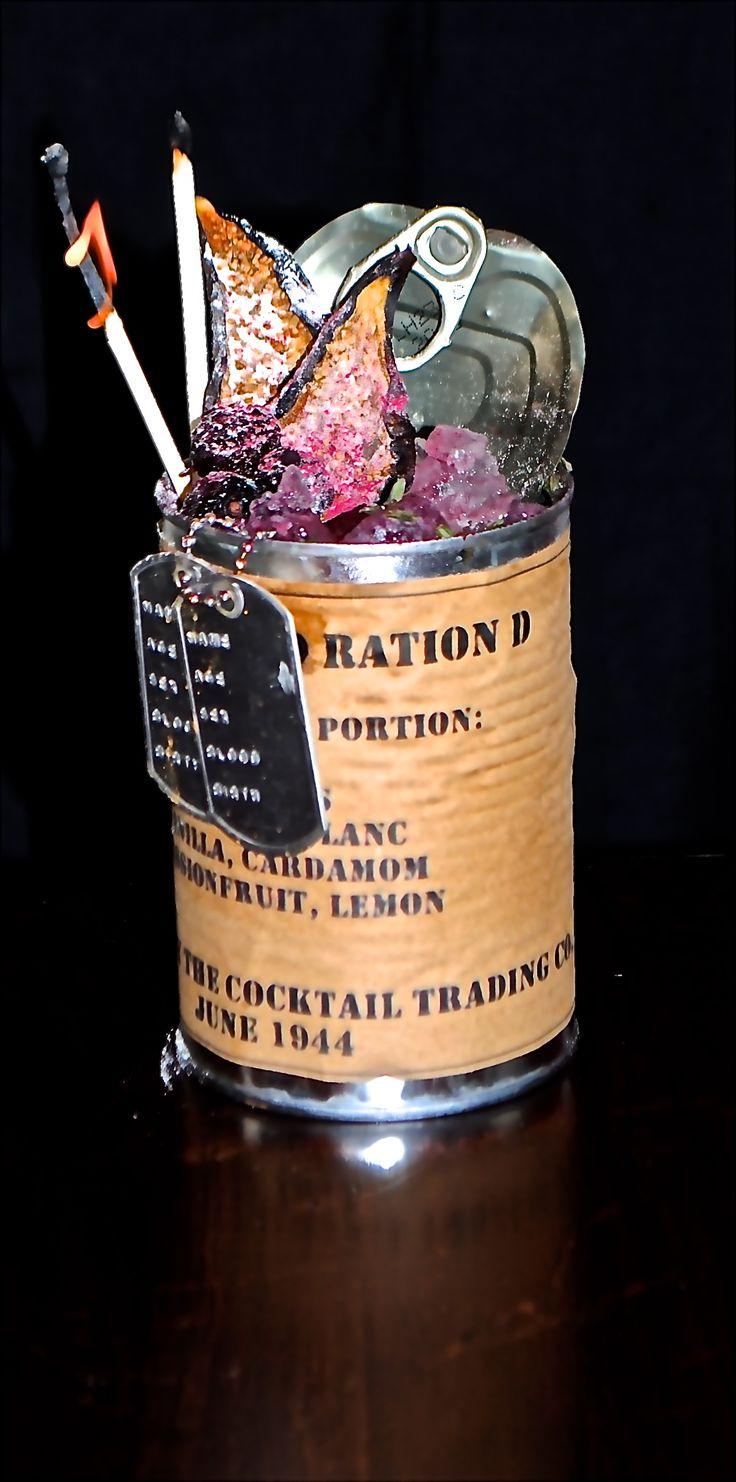 """Sauvignon Private Ryan"" - calvados, sauvignon blanc, passion fruit, vanilla, cardamom & citrus. Served with hono(u)r."