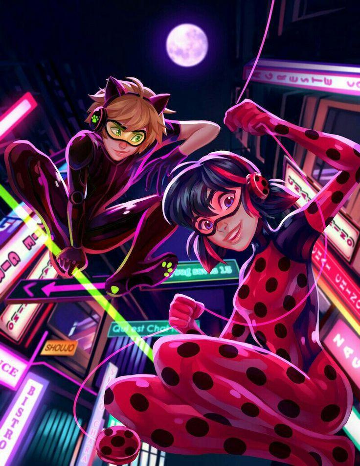Ladybug y chatnoir en Tokio