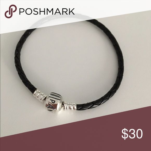Black leather rope pandora bracelet Black leather rope pandora bracelet Pandora Jewelry Bracelets