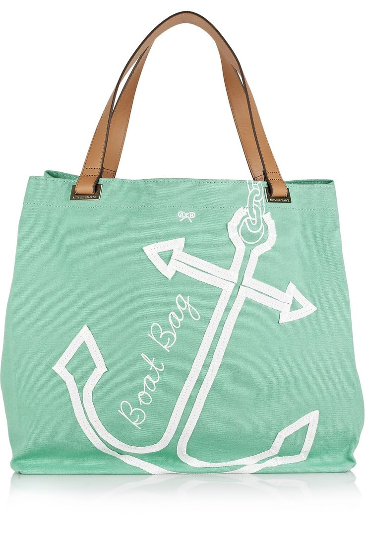 I want this so bad!!! perfect tote for summer boating.. and i love anchors!