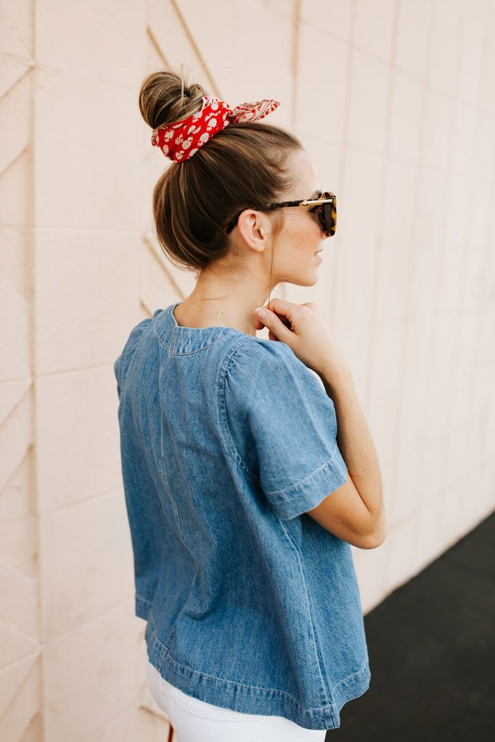 An Easy Denim Top for Summer (+ 4th of July Outfit Inspiration!)
