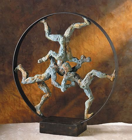 Superb Rat Race Modern Art Contemporary Tabletop Sculpture By Attila Tivadar  Available At AllSculptures.com