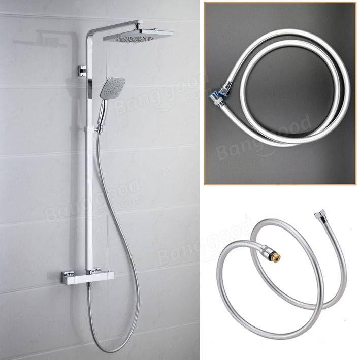 KCASA™ 1.2m PVC Explosion-proof Bathroom Shower Hose Anti-wrap Waterpipe High Temperature Resistance