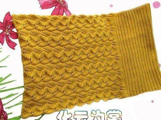 Очень красивый и теплый шарф-хомут