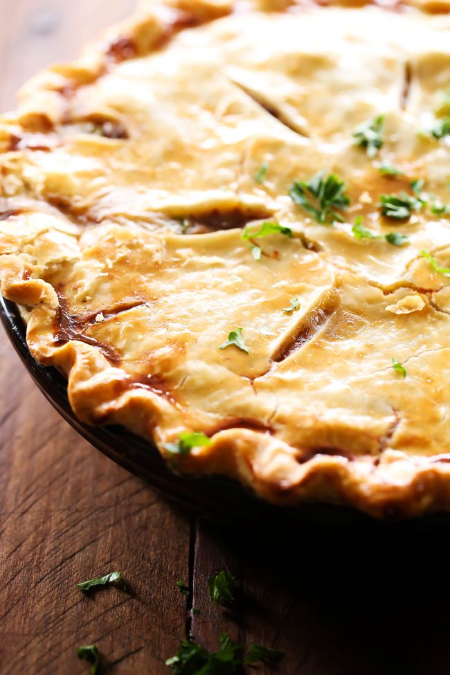 Beef Pot Pie... This is a delicious meal packed with flavor and tasty ingredients! This will quickly become a new family favorite!