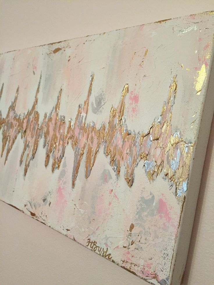 Custom Sonogram Heartbeat painting, Baby Heartbeat Art, ultrasound heart rhythm, abstract heartbeat by HaleyBDesigns on Etsy https://www.etsy.com/listing/513752583/custom-sonogram-heartbeat-painting-baby