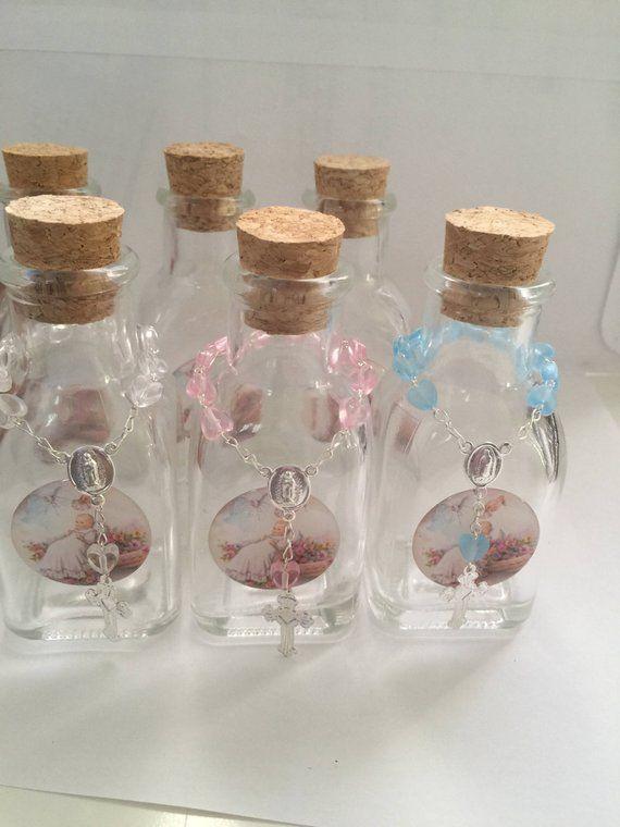 5e4b61c0 Holy Water Bottles, decor bottler, Baptism favors, holy water ...