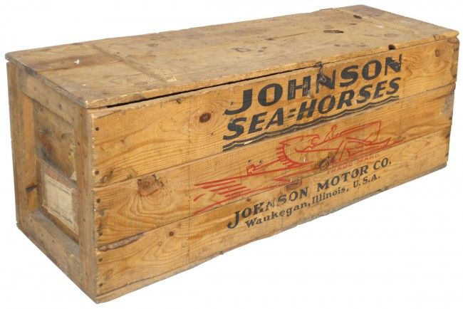 1014 Boat Outboard Motor Shipping Crate Johnson Sea H