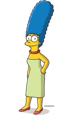 Marge Simpson.is a Blue hair Beauty