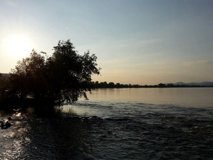 Naplemente a Duna parton