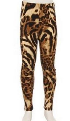 Kids Animal Print Leggings #Animal-Print #girls #kids