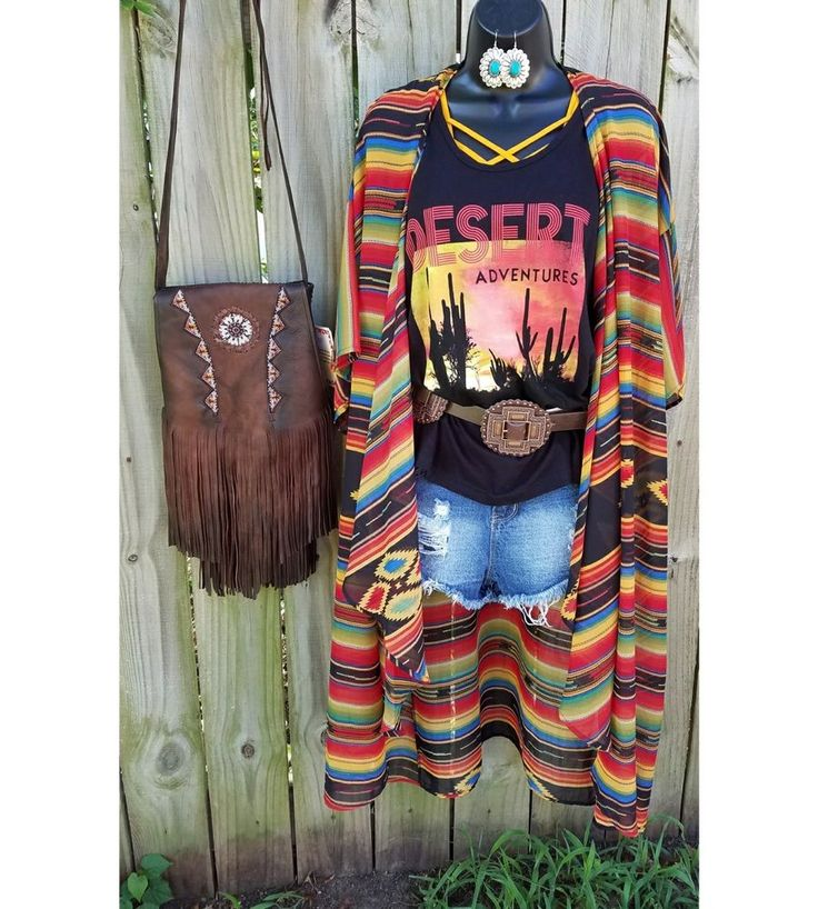 COWGIRL GYPSY long  Serape southwestern Duster Kimono Cardigan Western BOHO Osfm | Clothing, Shoes & Accessories, Women's Clothing, Tops & Blouses | eBay!