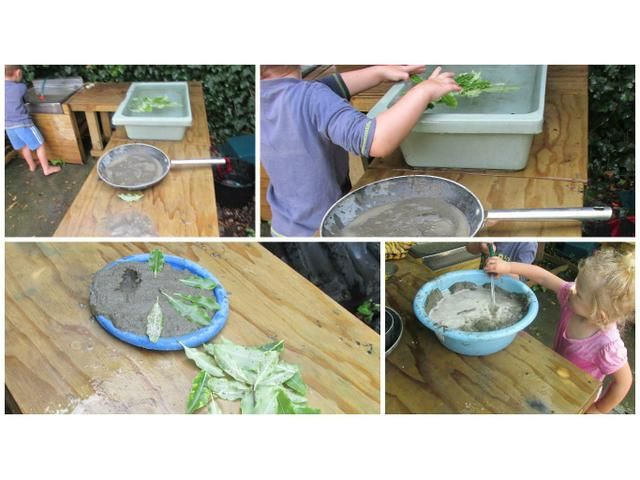Mud Kitchen in action.