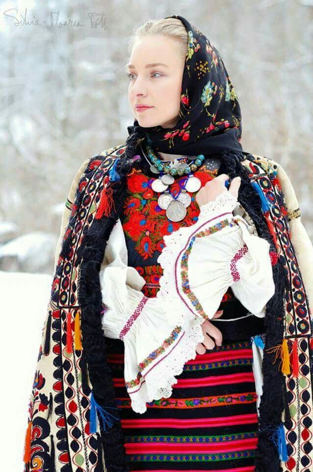 Awesome Romanian traditional clothing
