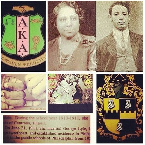 """""""The story of Alpha Kappa Alpha and Alpha Phi Alpha is a 'love-knot' story rooted in a personal relationship between Ethel Hedgeman and George Lyle,"""" sweethearts in high school and college, who were married on June 21, 1911."""