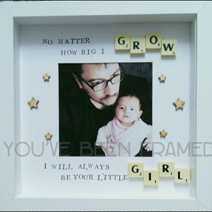 Keepsake daddy frame with scrabble tiles personalised birthday Christmas gift