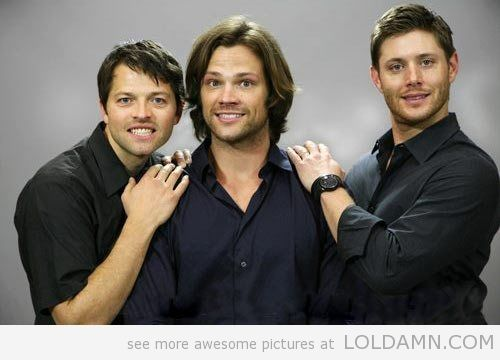 supernatural funny   funny Supernatural cast photo shoot