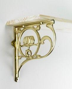 Lotus flower brass shelf brackets - Brass Shelf Brackets - Shelf Brackets - Other Hardware - Home & Interiors - Catalogue | Black Country Metal Works