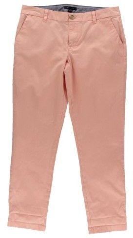 Tommy Hilfiger Womens Hampton Stretch Slim Fit Chino Pants