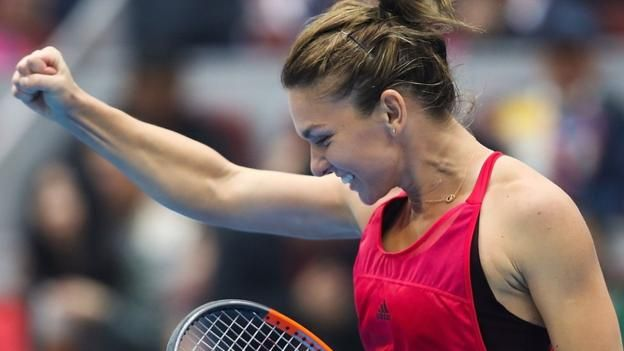 Simona Halep will officially become the world number one on Monday Simona Halep has become world number one for the first time by beating Jelena Ostapenko to reach the final of the China Open. Romanian Halep won 6-2 6-4 in Beijing and will replace Spain's Garbine Muguruza at the top of...