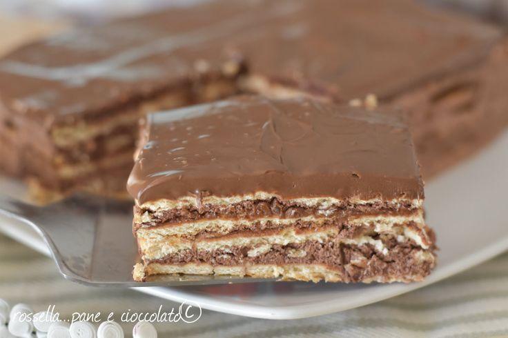 Torta Eclaire mille strati alla nutella un dolce irresistibilmente buono e senza cottura che non vi fara' perdere nemmeno un minuto di tempo!