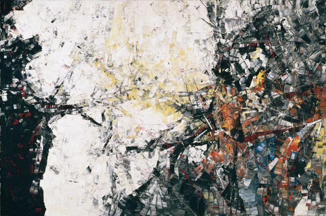 Jean Paul Riopelle, Autriche III, 1954, huile sur toile, 200 x 300,4 cm