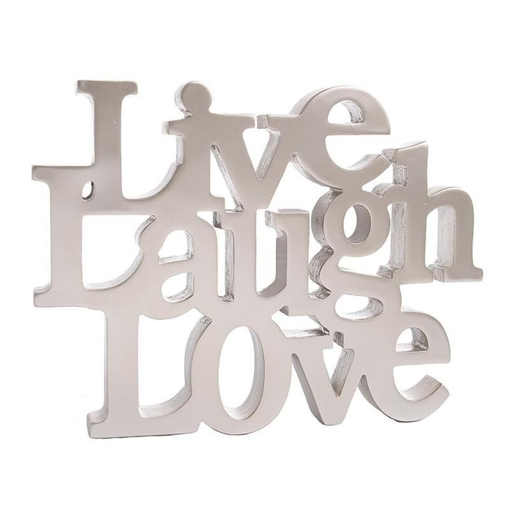 ΔΙΑΚΟΣΜΗΤΙΚΟ POLYRESIN 'LIVE LAUGH LOVE' 25X2X19