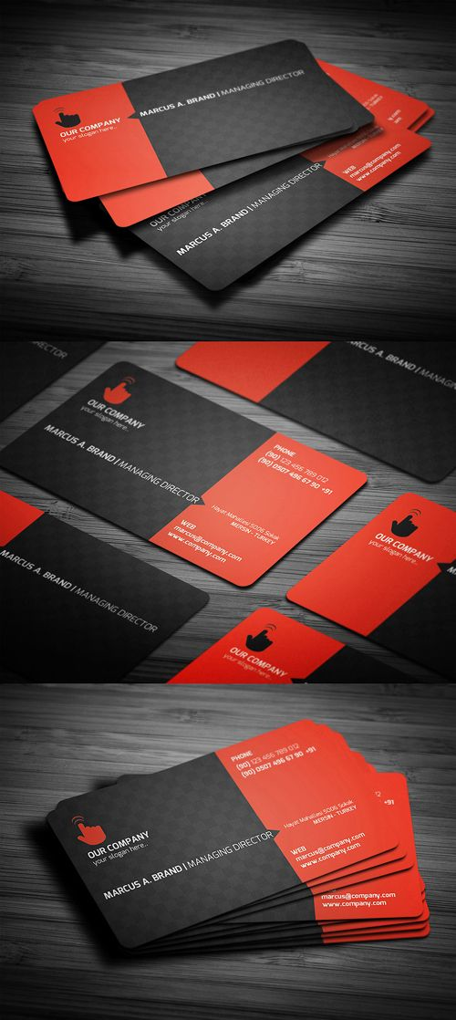 Rounded Corner Business Card #businesscards #printready #businesscardtemplate #printedcards
