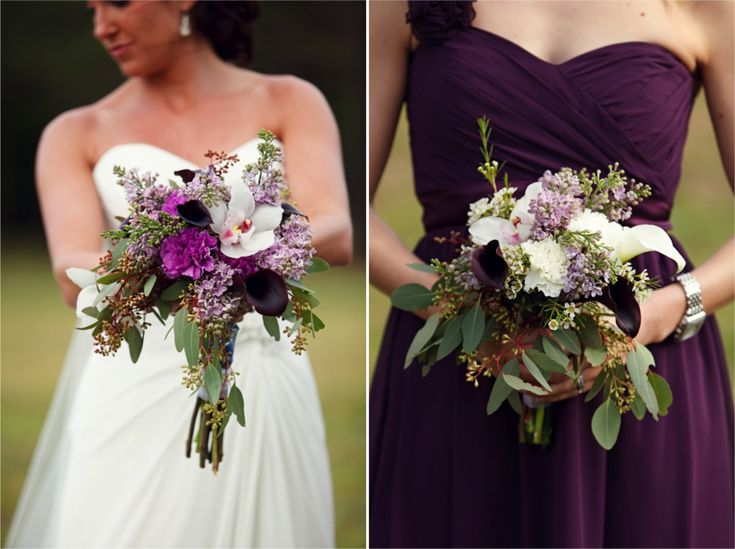 I like the dark, dark purple mixed into the bouquet - it adds drama