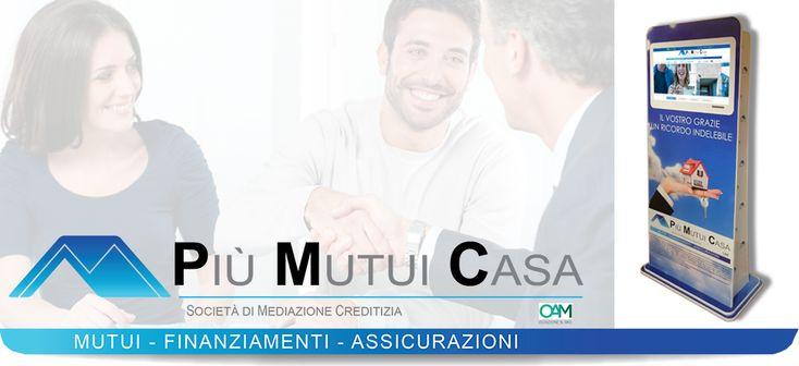 Locandina multimediale #PiuMutuiCasa, la soluzione ideale per i tuoi futuri acquisti.