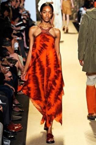 Michael Kors abito arancio etnico