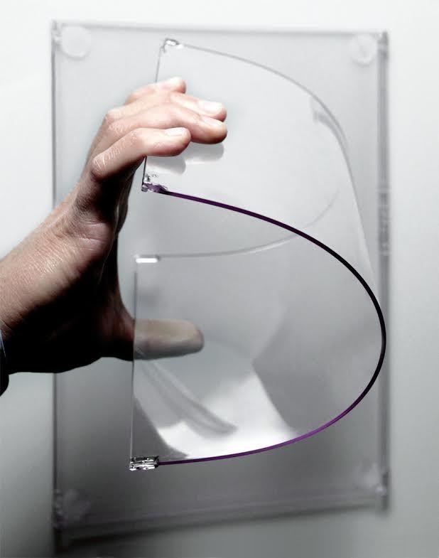 Porta comunicazioni da vetrina in policarbonato