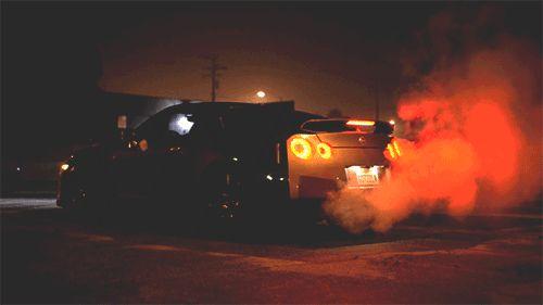Cool Car car night gif animation smoke dark guys car gif