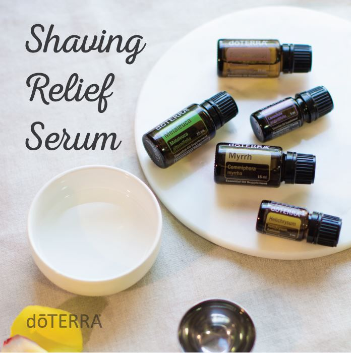 "DIY Razor Relief Serum with doTERRA Essential Oils: ""Shaving may be essential, but razor bumps are not. Provide relief to your skin with this Razor Relief Serum enhanced with calming doTERRA essential oils that will help your skin look and feel beautiful."""