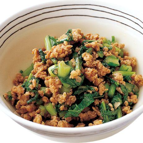 かぶの葉とひき肉のピリ辛炒め | 吉田勝彦さんの炒めものの料理レシピ | プロの簡単料理レシピはレタスクラブニュース