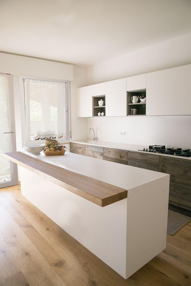 Oltre 25 fantastiche idee su piano cucina in legno su for Cucina legno bianco