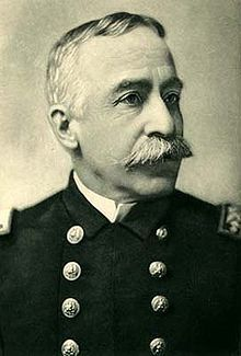 George Dewey was made Admiral of the US Navy on March 24, 1899. He is best known for his victory at the Battle of Manila Bay during the Spanish-American War.  Read more: http://en.wikipedia.org/wiki/George_Dewey