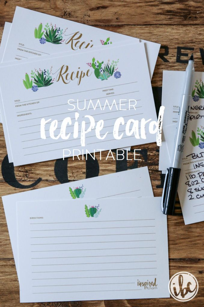 17 best ideas about recipe templates on pinterest