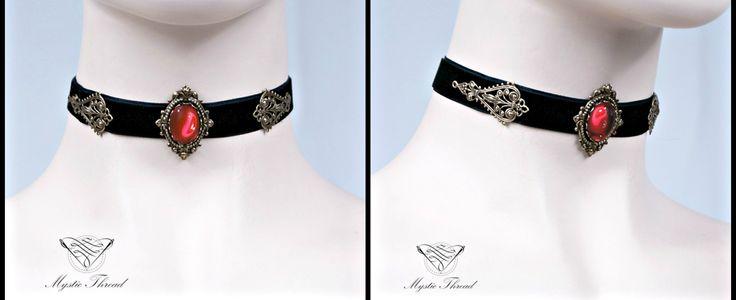 Black velvet gothic victorian choker with ruby gem by Mystic Thread / e-shop: www.mysticthread.com / facebook: www.facebook.com/mysticthread.ltd / Photo by Undefiled Photography & Editing #mysticthread #choker #chokers #velvetchoker #velvetchokers #blackchoker #gothicchoker #victorianchoker #rubychoker #gothicaccessories #victorianaccessories #jewely #accessories #gothic #victorian #gothicphotos #victorianphotos #gothicjewelry #victorianjewelry #blackchoker #blackchokers