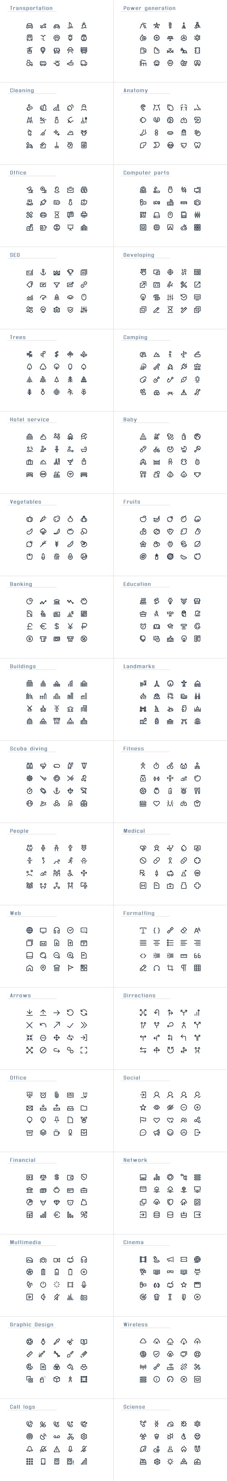 IconAlone Line icons pack by popcic on @creativemarket