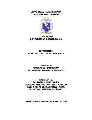 PROCESO DE PRODUCCIÓN DEL GANADO BOVINO DE ENGORDE