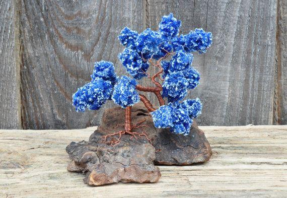 Blue Wire Tree / Miniature Bonsai / Wire Tree / by ForestofEva